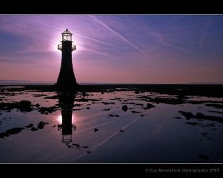 Whiteford Lighthouse at dawn by Berrega