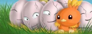 Pokemon: Torchic and Exeggcute