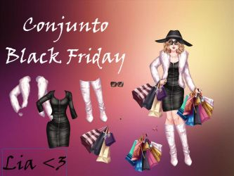 Conjunto Black Friday by LiaVongola