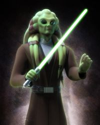 Jedi Masters - Kit Fisto by AEmiliusLives