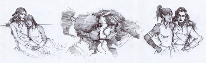 Korrasami sketches by characterundefined
