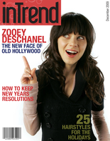 Zooey Deschanel Magazine Cover by EmoDJSteph