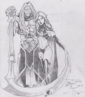 Death and Goblin Queen by charlesdeshields9167