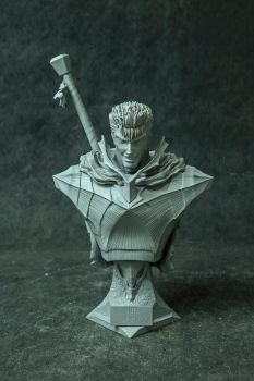 Guts 1/4 scale bust by GVDigitalSculptor