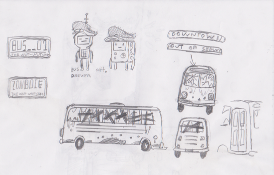 Zombies Au: Bus by AceNos