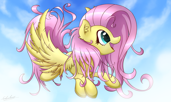 Fluttershy Can Really Fly! by SentireAeris