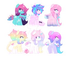 Many Pony Adopt SET PRICE ~OPEN~ ONE LEFT!! by aura-serpents