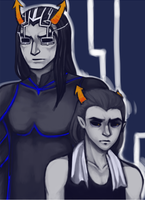 Darkleer and Equius by Adoxographist