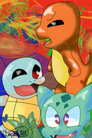 .:Poke Trio:. by SleepyStaceyArt