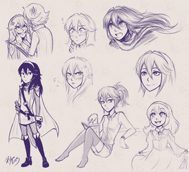 Lucina Sketches by firehorse6