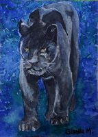 Jaguar - watercolor by Giselle-M