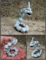 Pokemon - Onix Sculpture - Handmade PKMN Figurine