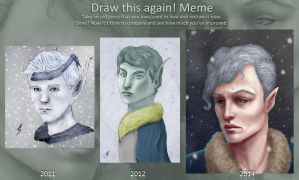 Draw this again 2011 to 2014 by TobyFoxArt