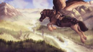 Flying into Camp by Aliennor