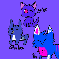 Adopted OCs: Pop, Blitz, and Bluebee by DreamNotePrincess