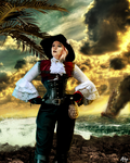 Lady Pirate of the Caribbean by Alhys