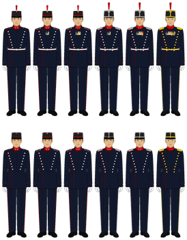 Some Random AU Dress Uniforms by tsd715