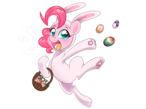Happy Easter from Pinkie!! by engibee