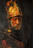 man with the golden helmet by mr-squirrel