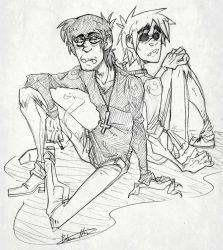 Murdoc and 2-D by BlasticHeart