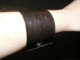 Leather Arm Band - Quake Fan Gears 1 by Dandy-L