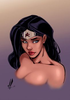 Wonder Woman Color by Marc-F-Huizinga