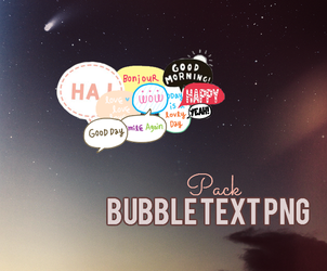 Bubble Text PNG pack by PhotoPOP-K