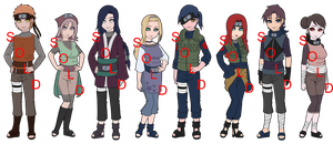 Mixed Konoha Naruto OC Adoptables - SOLD OUT by mistressmaxwell