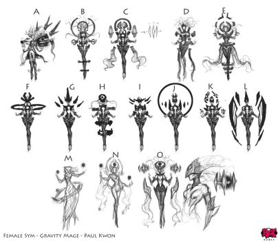 Syndra The Dark Sovereign Ideation Thumbnails by Zeronis