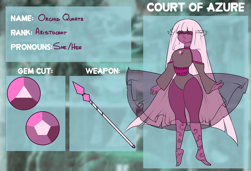 [Court Of Azure] Orchid Quartz by Flamingo-sama
