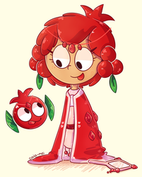 pomegranate cookie run by Caia-Mei