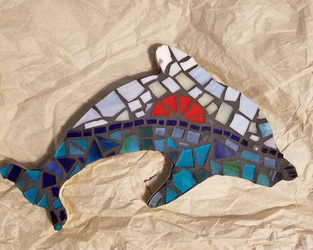 Dolphin Mosaic by kenyastarflight