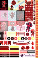Deadpool Free Printable Stickers by AnacarLilian