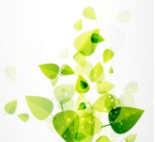 Abstract-Green-Leaves-Vector-Background by vectorbackgrounds