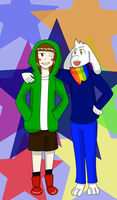 Storyshift Chara and Asriel by Animerican98