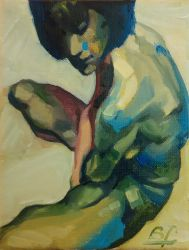 Seated Nude by bfaupin