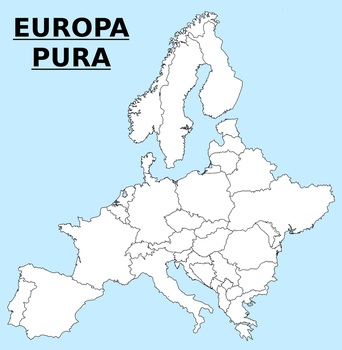 Map of pure Europe by matritum