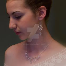 Bridal jewelry set with necklace and earrings by artual
