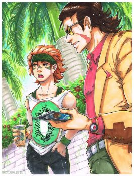 Basara Summer - Meet Up Under the Palm Trees by Orcagirl2001