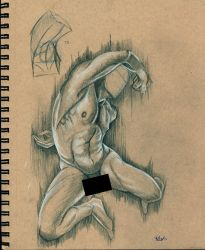 Muscular figure study by Arwin-Rand