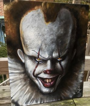 Pennywise 16x20 oil on canvas  by zackdunn89