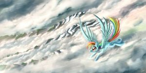 Cloud Surfing by Pyrestorm