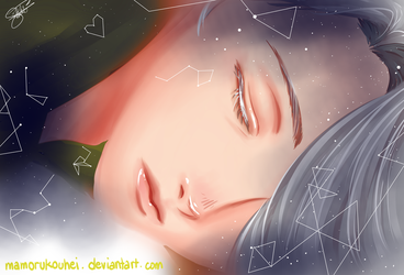 Sleeping on a bed of Stars [Viktor Nikiforov] by mamorukouhei
