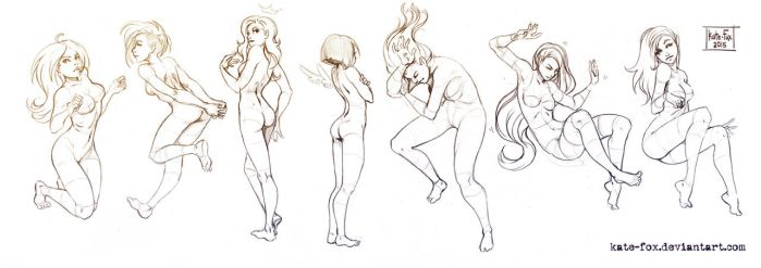 Pose study 18 by Kate-FoX