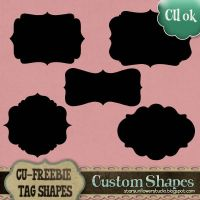 Custom Shapes Tags 2 by starsunflowerstudio