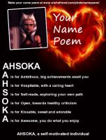 Ahsoka Tano Name Poem. by Clonetroopsrule344