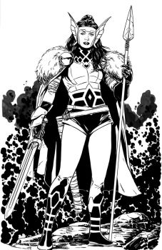 Lady Sif commission by MarcLaming