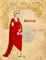 Duchess Gertrud of Austria by Pelycosaur24