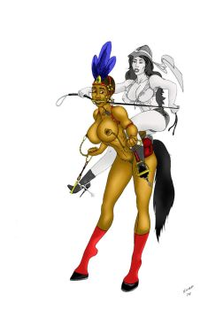 Nubian Ponygirl On Safari by snap666999