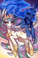 The Moon and The Sun of Equestria by Inkfall